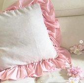 federa cuscino da divano shabby