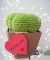 Pianta decorativa Home Decor Cactus uncinetto. Idea mamma. Regalo bomboniera. Pianta grassa.