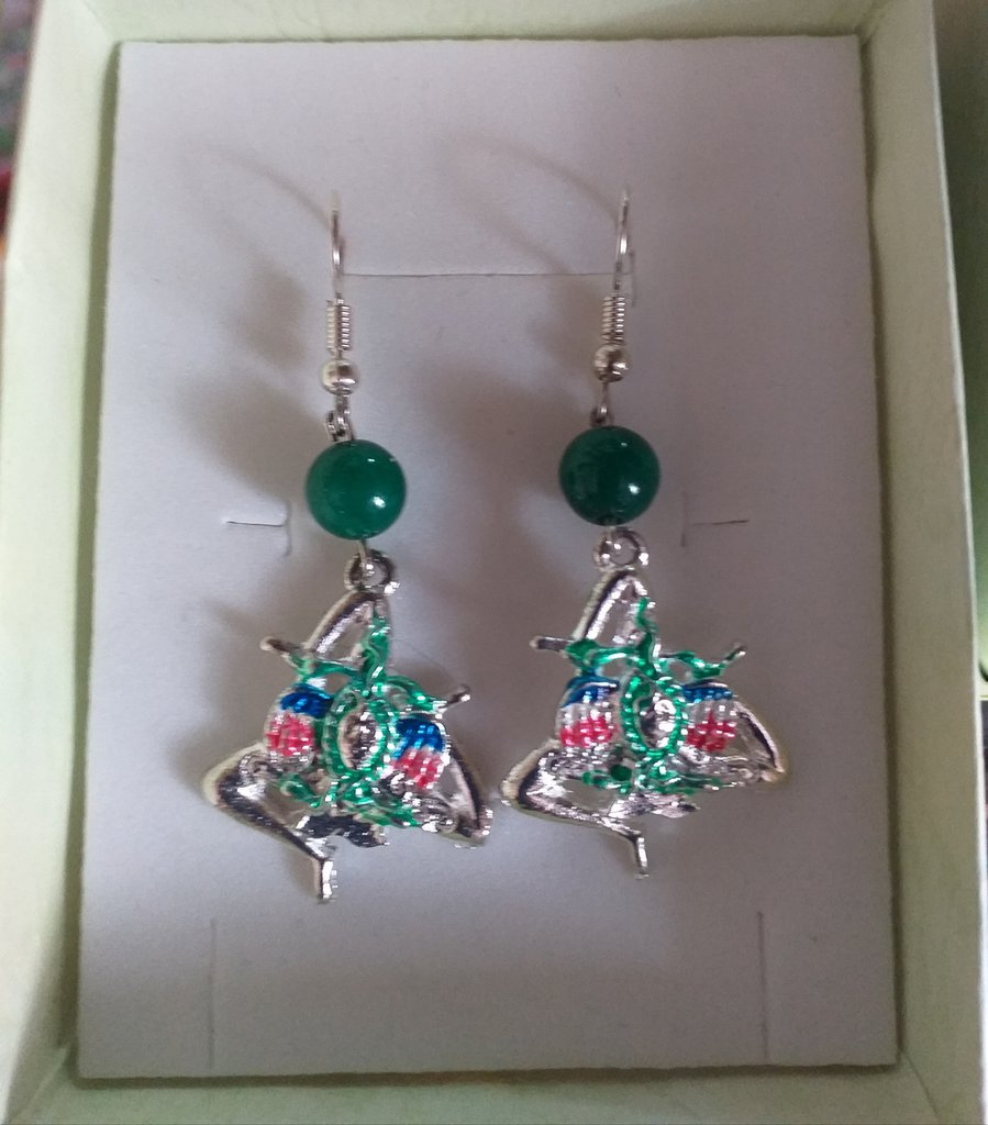 Orecchini pendenti trinacria Idea regalo festa della mamma