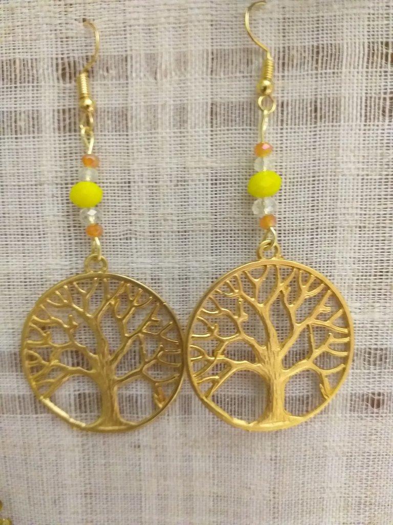 Orecchini  pendenti con albero della  vita idea regalo festa della mamma