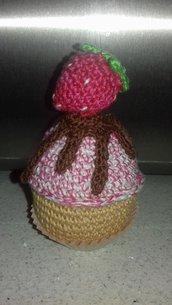 Cupcake colorati all'uncinetto