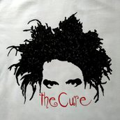 T-shirt THE CURE, magliette dipinte a mano, personalizzate