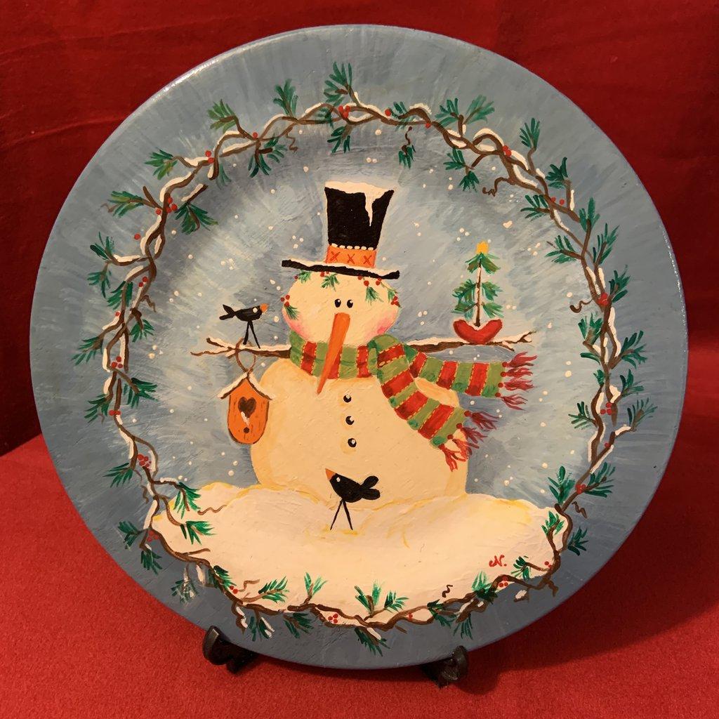 Piatto di Natale decorato