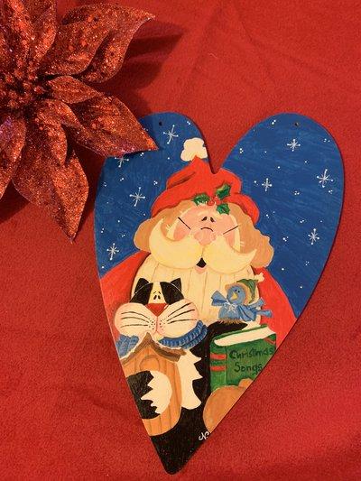 Cuore con Babbo Natale