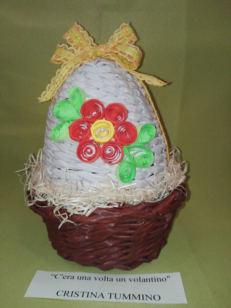 Uovo contenitore di carta