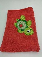 Asciugamano in spugna con gancio Bambina/Bambino