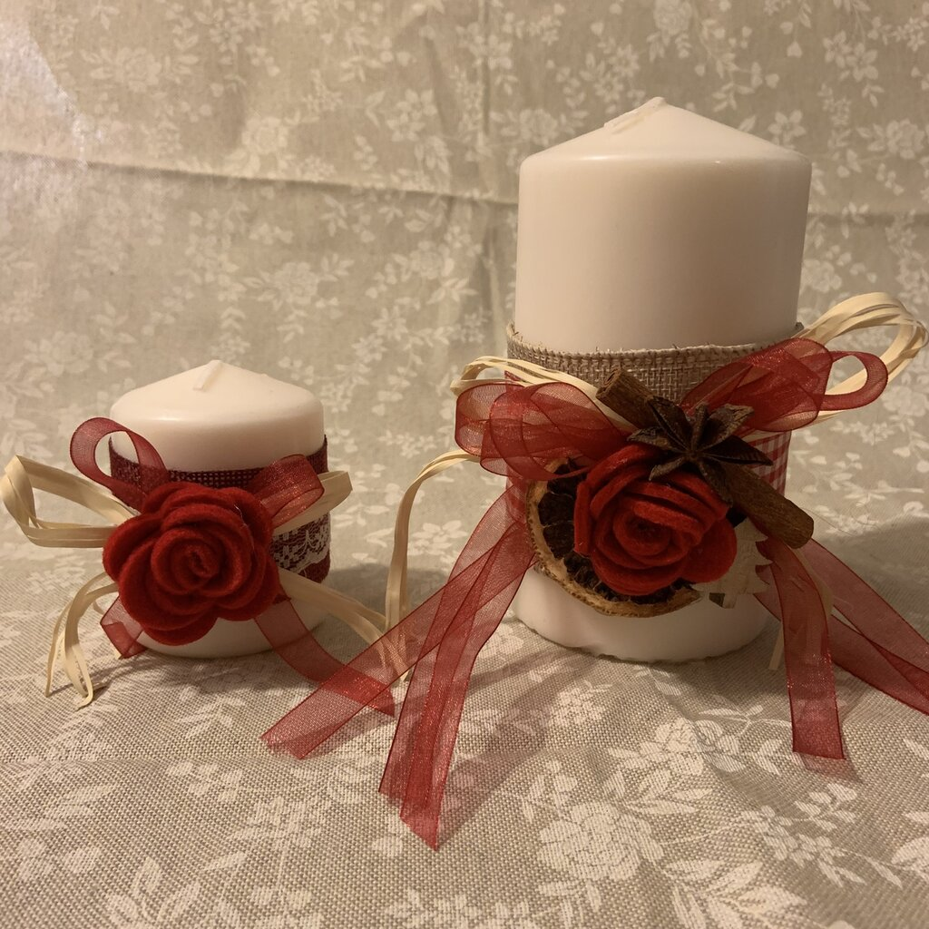 Candele decorate Natale