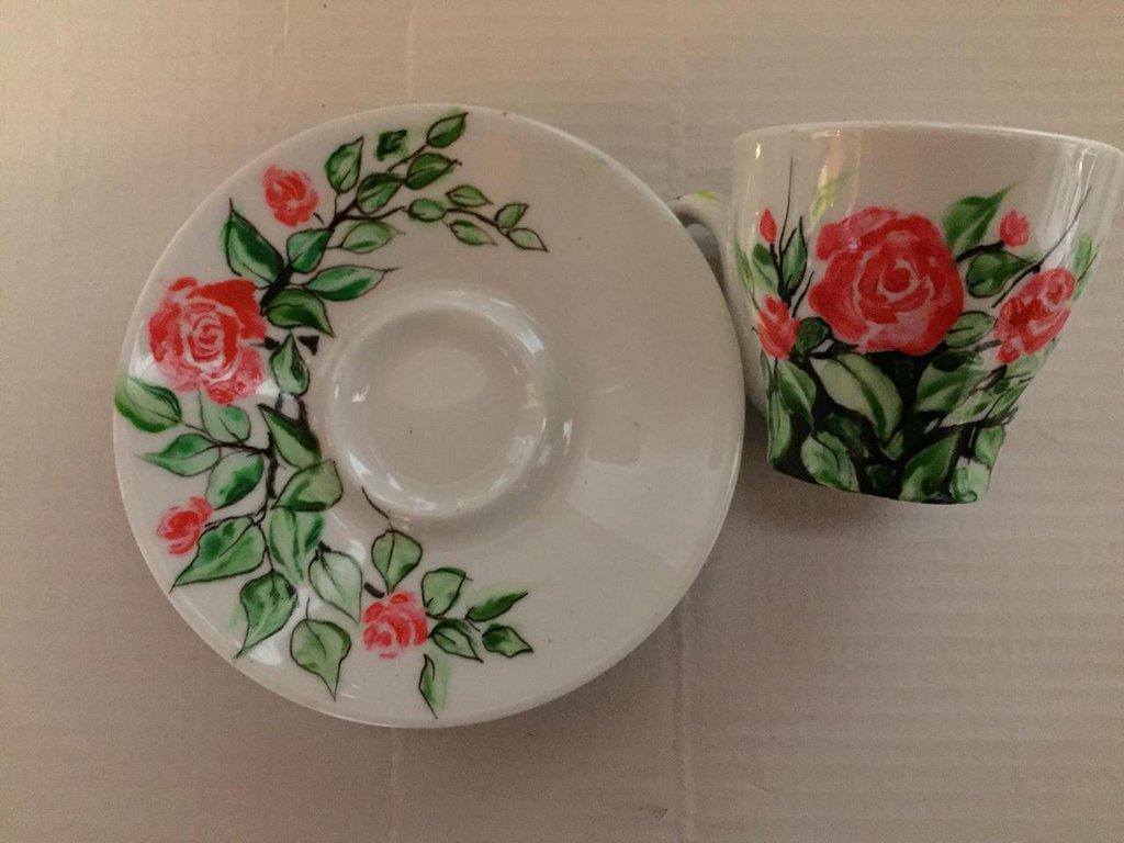 Tazzine in ceramica rose