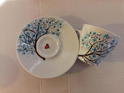 Tazzine in ceramica fantasia blu