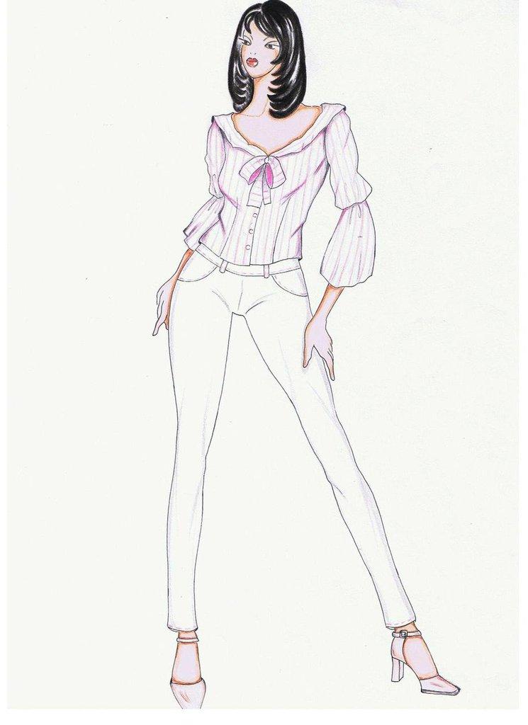 best website 22423 f45e6 cartamodello camicia donna