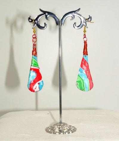 orecchini Fimo e Wire