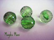 perle verdi sfaccettate