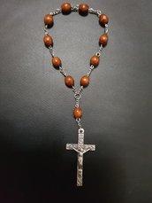 Decina rosario 11 grani in legno
