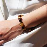 oro d'ambra, argento e onice nero, braccialetto donna giallo e nero, bracciale ambra messicana per lei, bracciale pietre dure minimal