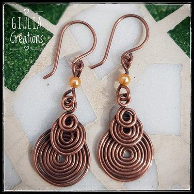 orecchini di ottone