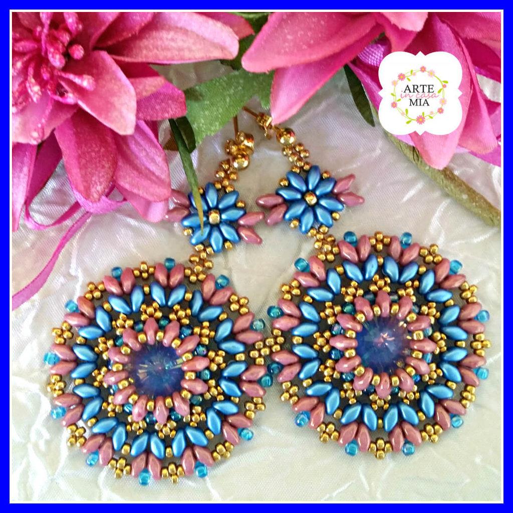 Orecchini Ultra Blu fatti a mano– Linea Sunshine - Ultra Blue Earrings - Sunshine Line