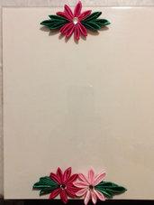 Cornice fiori kanzashi