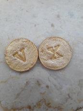 100 Monete token oro per giochi di ruolo D&D personalizzabili