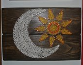 quadro string art Sole & Luna