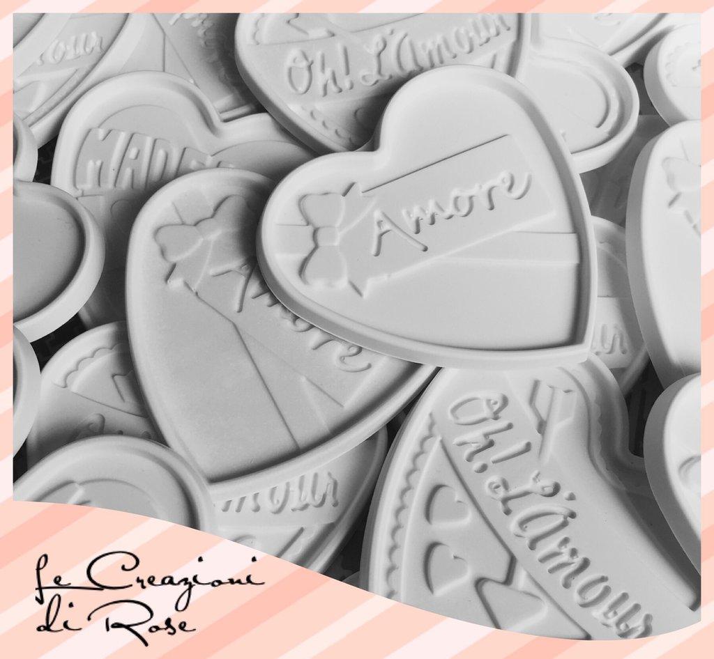 Gessi 100 gessetti profumati cuore segnaposto amore made with love matrimonio