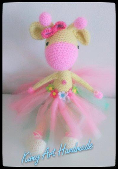 Giraffa ballerina amigurumi