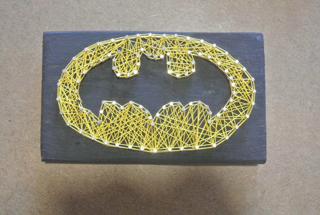 quadro string art Batman