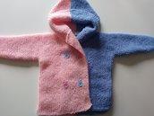 Giacchino neonata con cappuccio