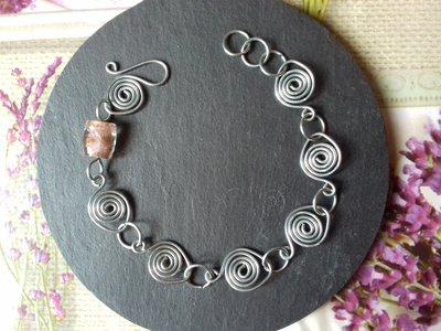 Bracciale wire con spirali