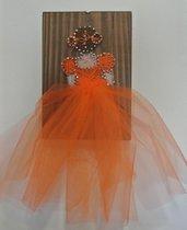 quadro string art Ballerina con tulle