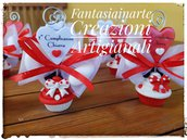 Bomboniera Cupcake Topolina Cuore Completa