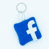 Gadget icona facebook, 6 x 6 cm
