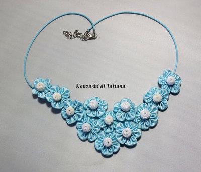 Collana kanzashi con fiori 3.8