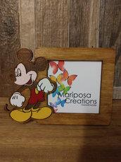 Portafoto in legno Topolino