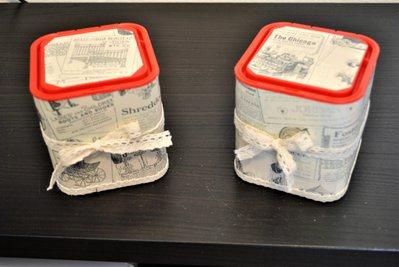 Scatole riciclate con pizzo