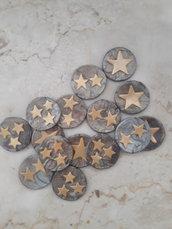 30 Monete token con stelline per assegnare premi in giochi di ruolo