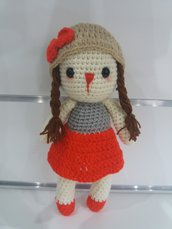 Stefy....la bambola realizzata a mano in lana