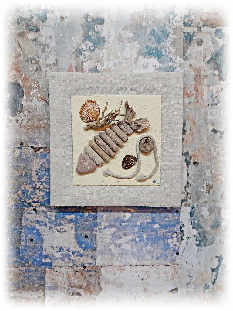 """""""ricordi marini"""" quadro con legni di mare"""