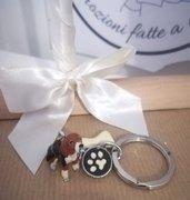 Portachiavi cane Ciondolo smaltato Dog Keychain