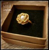 anello  rosellina e perla