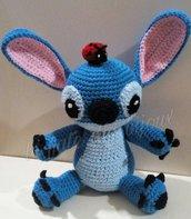 Stitch pupazzo per bambini, Lilo e Stitch con coccinella
