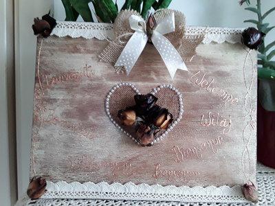 """Quadretto in legno """"Welcome"""""""