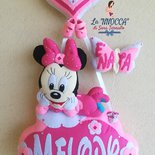 Fiocco nascita personalizzato di Minnie