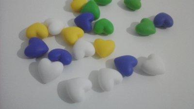 Materiale per catenelle portaciuccio, set di 20 cuori  in silicone naturale