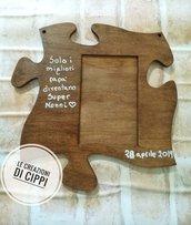 Cornice portafoto in legno,regalo personalizzato.