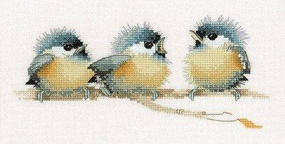Schema Punto Croce a scelta:  uccellini