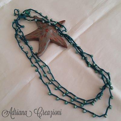 Collana Multi filo verde
