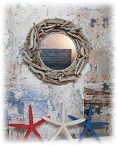 TENDANCE specchio con legni di mare