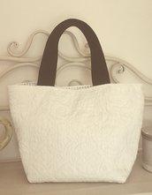 Mini bag bianco/nero
