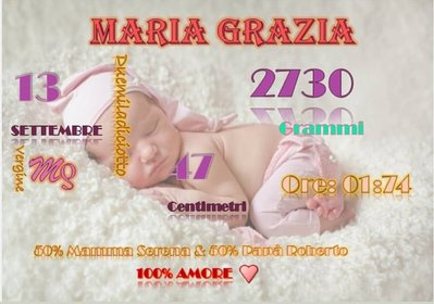 Quadretto nascita bebé digitale - Nascita idea regalo