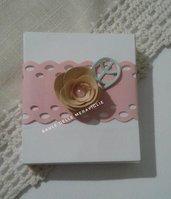 Bomboniera battesimo nascita bimba scatolina portaconfetti con nome